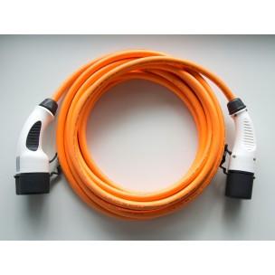 Dostar Laadkabel Type 2 naar Type 2 16A 1fase 6meter oranje