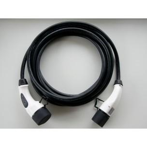 Duosida Laadkabel Type 2 naar Type 2 32A 3fase 5meter zwart